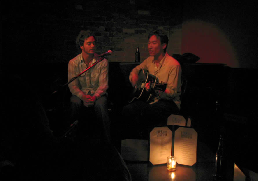 Kevin So and Amos Lee, Rockwood Music Hall, NYC circa 2007