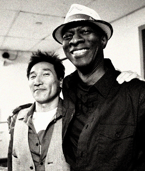 Keb Mo and Kevin So B.B. Kings backstage, New York City